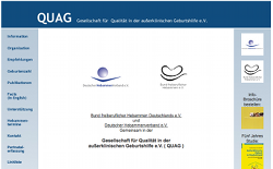 Screenshot der QUAG-Website